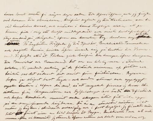 Hugo Simbergin kirje Blenda Simbergille 29.7.1905