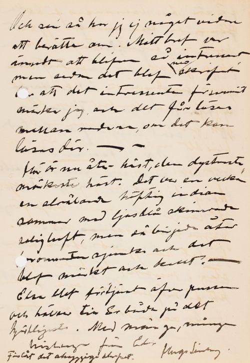 Hugo Simbergin kirje Mascha Hagelstamille 13.9.1904
