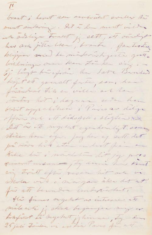 Hugo ja Anni Simbergin kirje Niclas Eduard Simbergille 21.7.1910