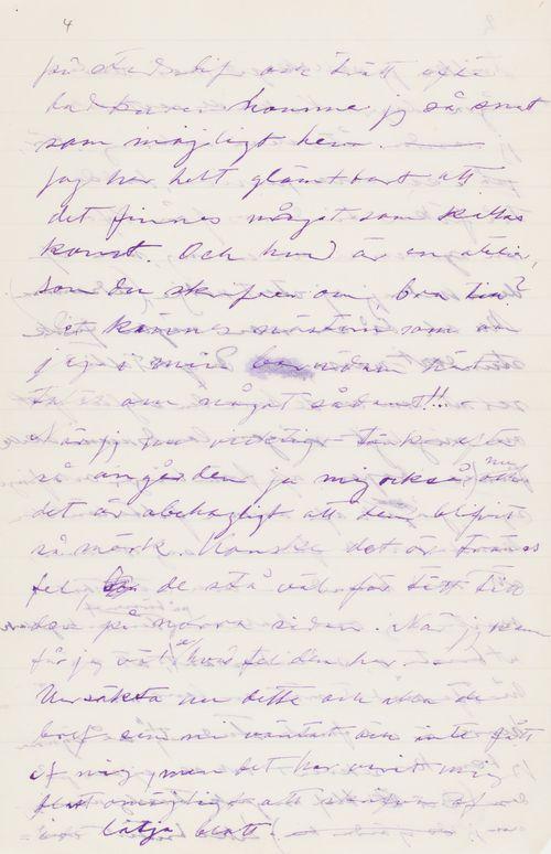 Hugo Simbergin kirje Blenda Simbergille 5.6.1906