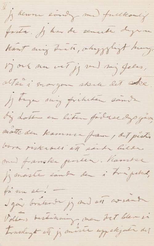 Hugo ja Anni Simbergin kirje Alexandra Simbergille 20.3.1910