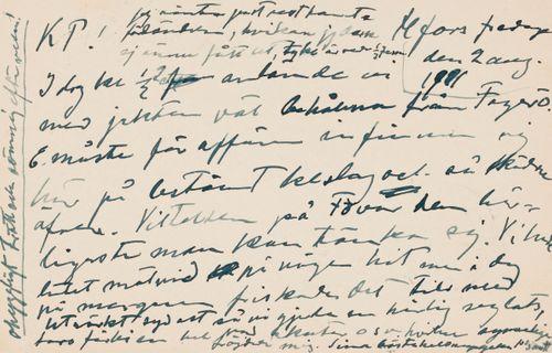 Hugo Simbergin kirje Niclas Eduard Simbergille 2.8.1901