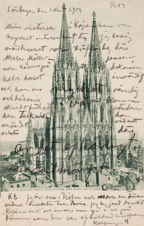 Hugo Simbergin kirje Elsa Simbergille 1.11.1903