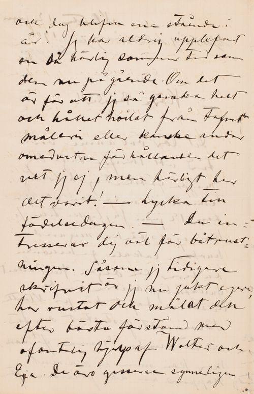 Hugo Simbergin kirje Paul Simbergille 12.6.1901