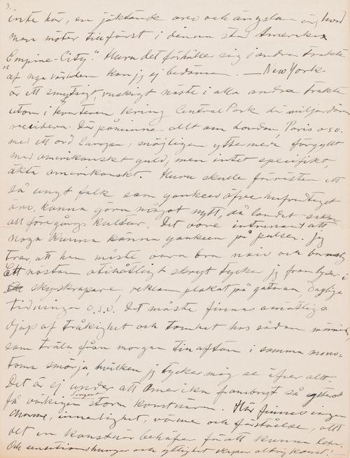 Hugo Simbergin kirje Niclas Eduard Simbergille  12.12.1907