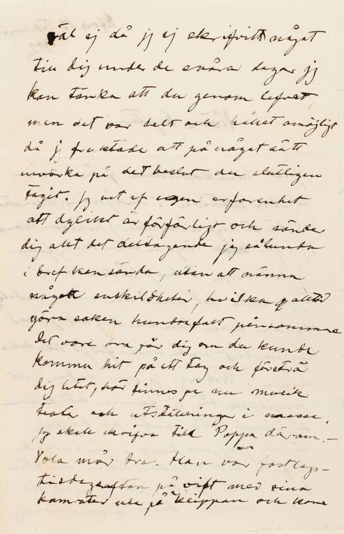 Hugo Simbergin kirje Blenda Simbergille 13.2.1902