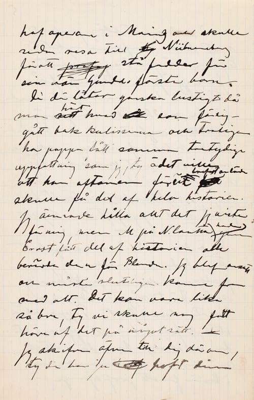 Hugo Simbergin kirje Paul Simbergille 13.5.1900