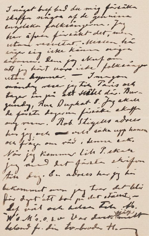 Hugo Simbergin kirje Paul Simbergille 19.4.1896