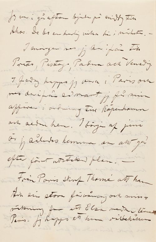 Hugo Simbergin kirje Niclas Eduard Simbergille 16.5.1904