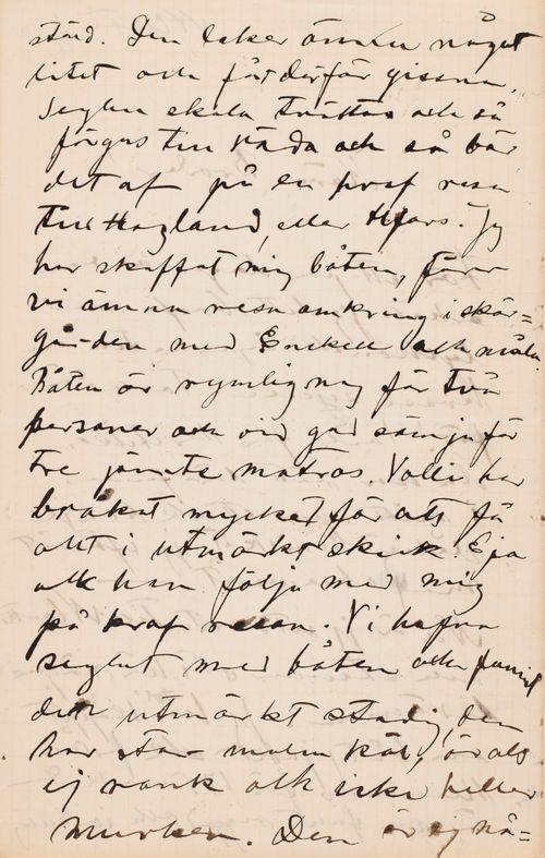 Hugo Simbergin kirje Paul Simbergille 6.6.1901