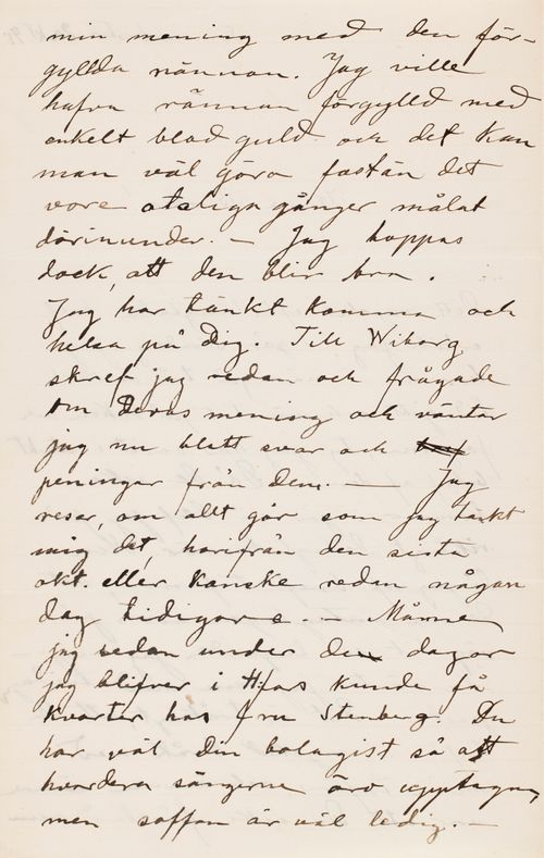 Hugo Simberg's letter to Paul Simberg 20.10.1895