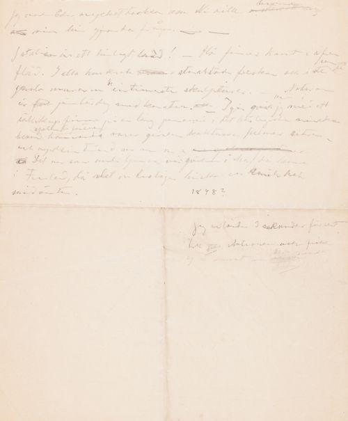 Hugo Simberg's letter to Akseli Gallen-Kallela 1898