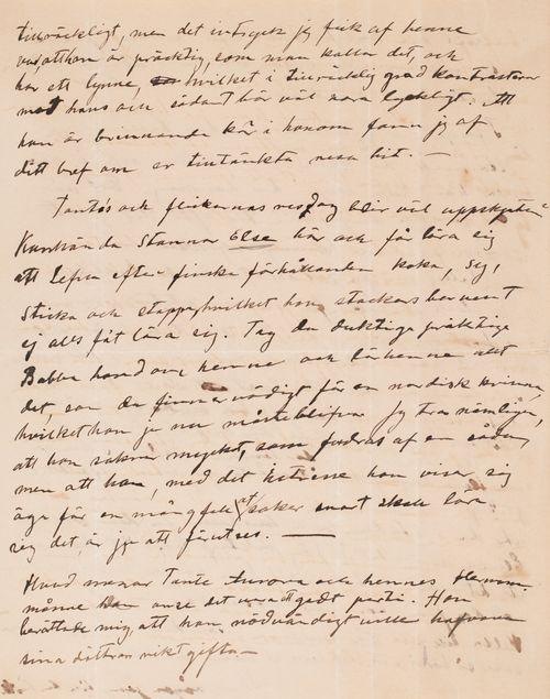 Hugo Simbergin kirje Blenda Simbergille 9.9.1897