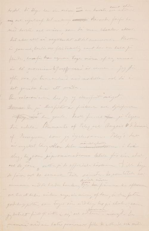 Hugo Simbergin kirje Akseli Gallen-Kallelalle 2.6.1896