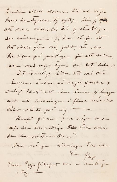 Hugo Simbergin kirje Blenda Simbergille 10.11.1904