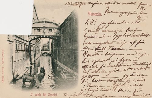 Hugo Simbergin kirje Blenda Simbergille 5.5.1898