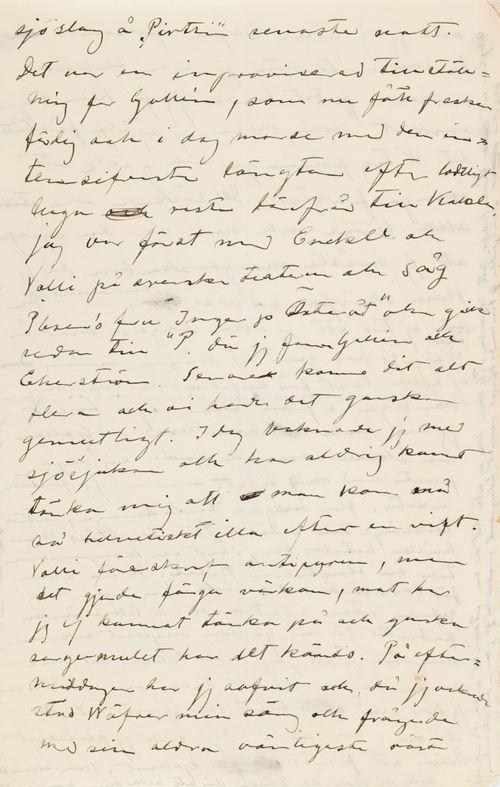 Hugo Simbergin kirje Blenda Simbergille 7.3.1901