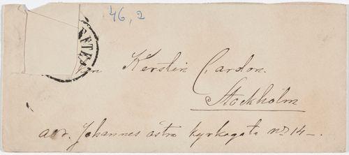 Kirjekuori osoitettu Kerstin Cardonille, s.a.