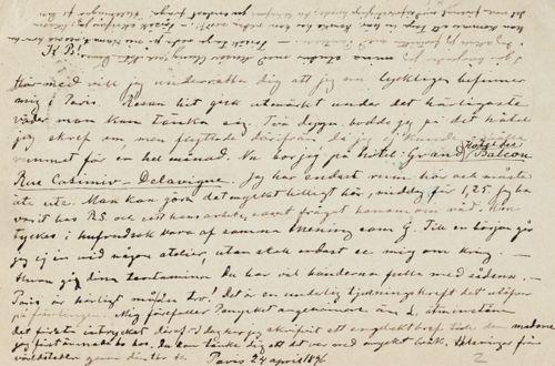 Hugo Simbergin kirje Paul Simbergille 24.4.1896