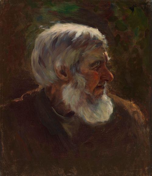 Vanha mies profiilissa, luonnos teokseen Sadun prinsessa