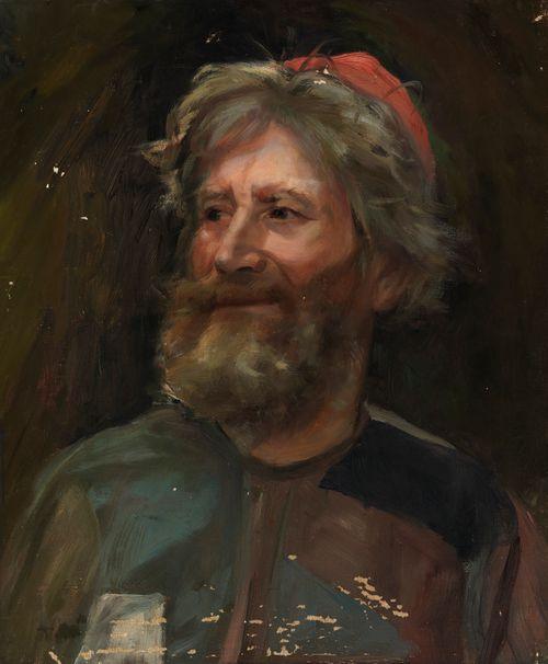 Vanha mies punaisessa lakissa, luonnos teokseen Sadun prinsessa