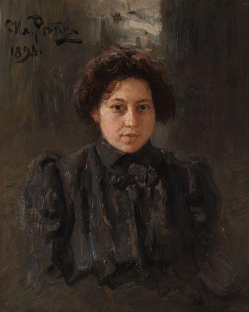 Taiteilijan tyttären Nadežda (Nadja) Repinan muotokuva