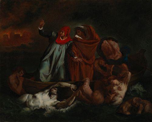 Dante ja Vergilius manalassa, kopio Eugene Delacroixin mukaan