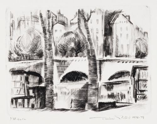 Quai de Montebello et Pont de l'Archevêché, Pariisi
