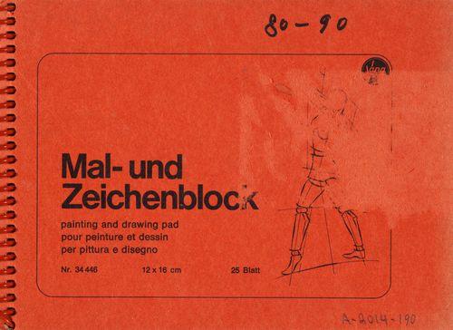 """Luonnoskirja, (""""Mal- und Zeichenblock"""") 80–90"""