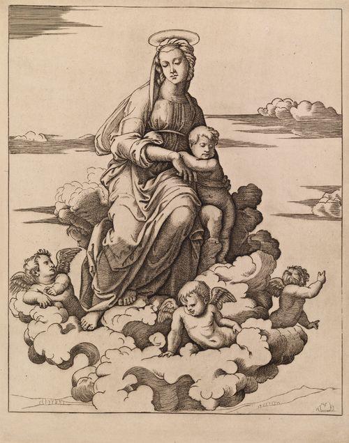 Neitsyt Maria ja lapsi pilven päällä