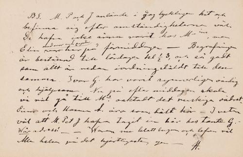 Hugo Simbergin kirje Blenda Simbergille 13.9.1894