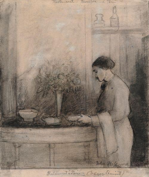 Pariisilaisen ravintola Bouillonin tarjoilija