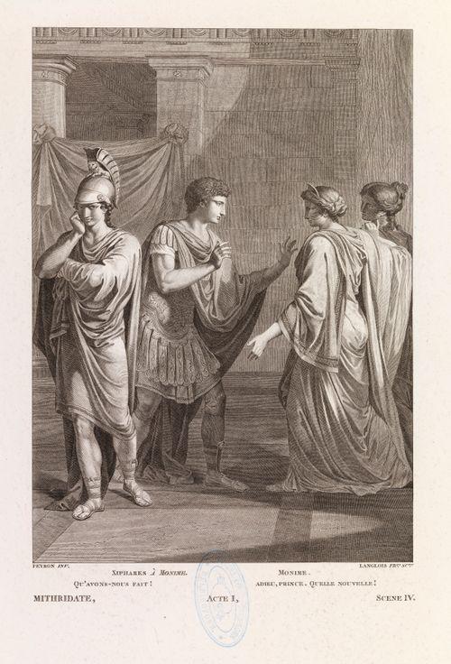 Kohtaus Racinen Mithridateen ensimmäisen näytöksen neljännestä kohtauksesta