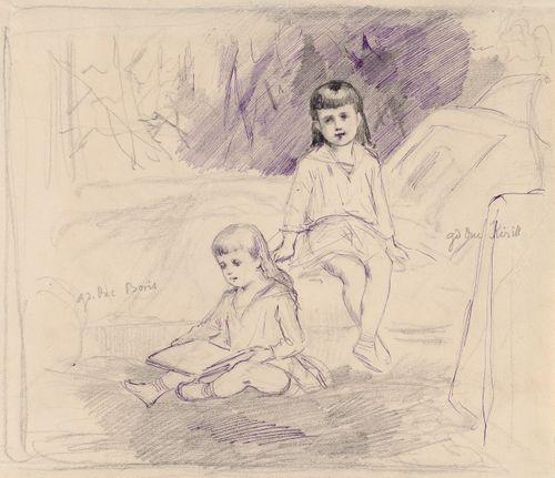 Suurruhtinaat Kirill ja Boris lapsina, muotokuvatutkielma