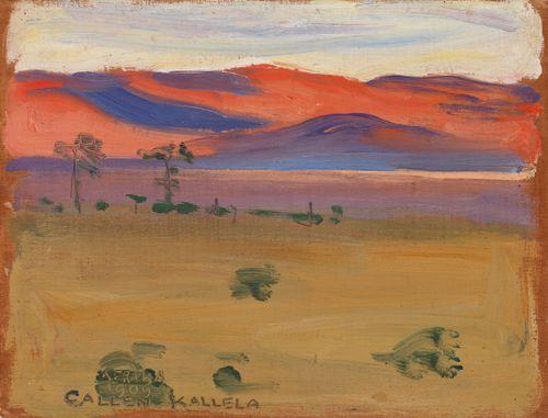 Auringonlasku aavikolla