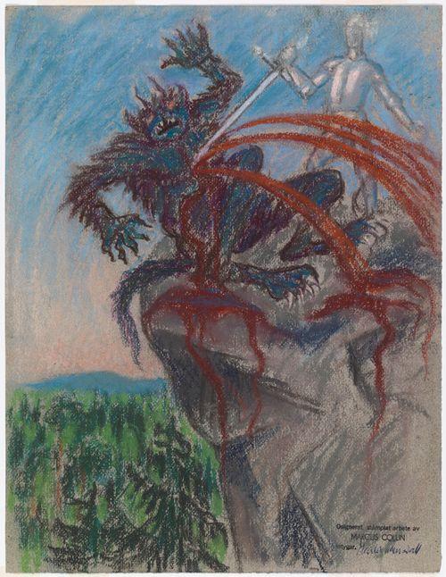 Taistelu vuorella, Seitsemän veljestä -kuvitus