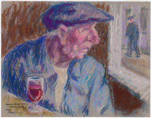 Mies ja viinilasi