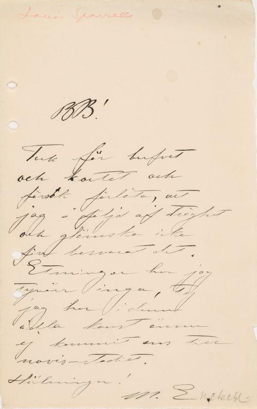 TKK/En284, Magnus Enckellin kirje Louis Sparrelle s.d.