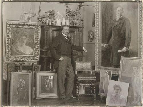 Albert Edelfelt Pariisin ateljeessaan