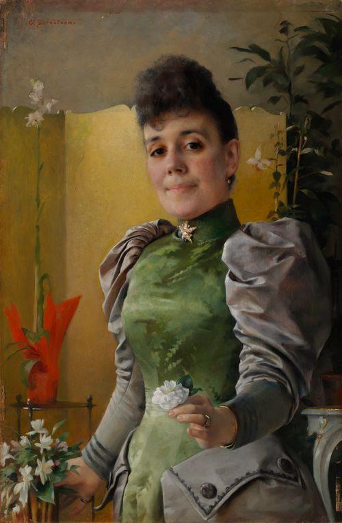 Valtioneuvoksetar Maria von Wahlbergin (s. Sinebrychoff) muotokuva