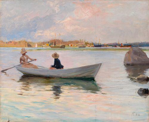 Tyttöjä veneessä
