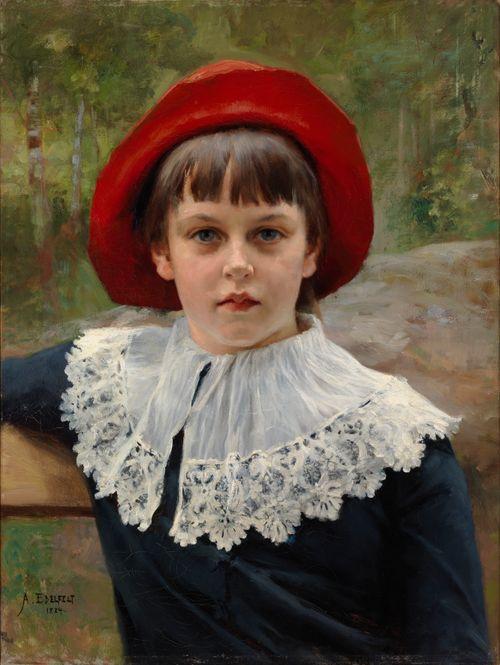 Taiteilijan sisaren Berta Edelfeltin muotokuva