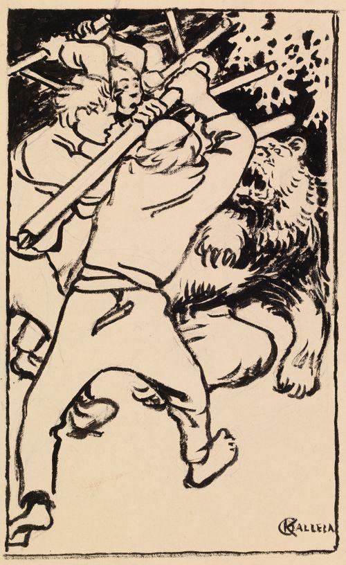 Karhun kanssa ottelussa