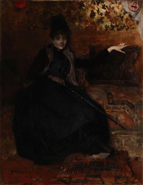 """Istuva mustapukuinen nainen, """"Thérèse noire"""""""