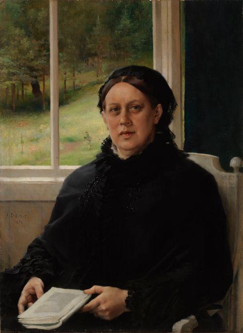 Taiteilijan äidin, Alexandra Edelfeltin muotokuva