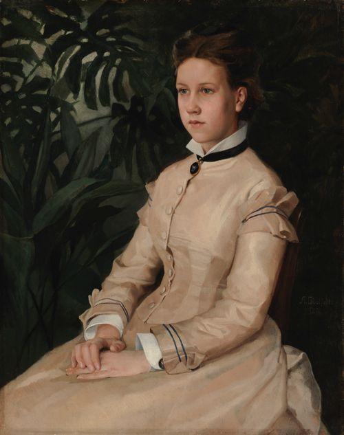 Taiteilijan sisaren Ellen Edelfeltin muotokuva