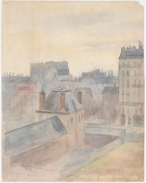 Näköala taiteilijan ateljeesta Pariisissa