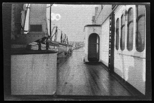 Valtamerihöyrylaiva RMS Lusitania ylittämässä Atlanttia