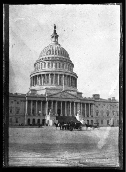 Yhdysvaltain kongressin Capitol-rakennuksen itäpääty Washington DC:ssä