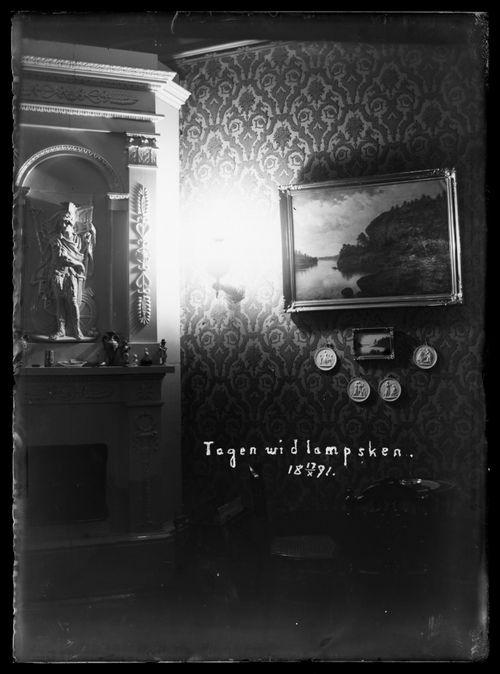 Niclas Simbergin perheen koti Viipurissa, näkymä salista